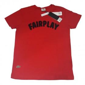 Lacoste Fairplay Kaos T-Shirt Wanita O Neck - Red