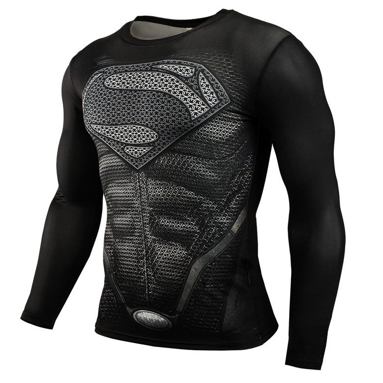 ... Baju Olahraga Ketat Pria Crossfit MMA Compression Shirt Long Sleeve  Size M - Black Black ... 15cb261b95