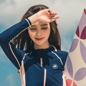 Baju Renang Wanita Long Sleeve Rash Guard Swimsuit Set Size L - Green - 5