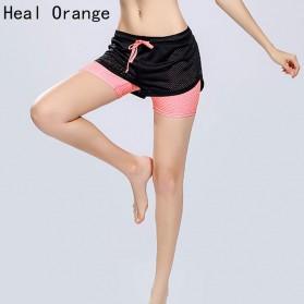 Celana Pendek Olahraga Wanita Tight Sport Fitness Running - Size S - Black - 4