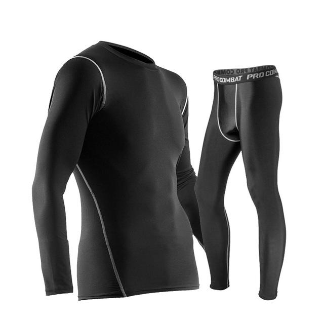 ... Manset Pakaian Olahraga Pria Baju Celana Size L - Black - 1 ... e1c14903d3