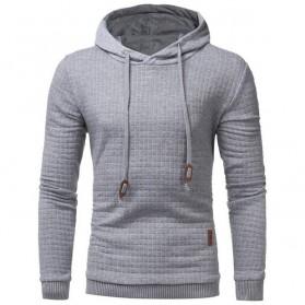 Jaket Hoodie Sweatshirt Long Sleeve Size L - Light Gray