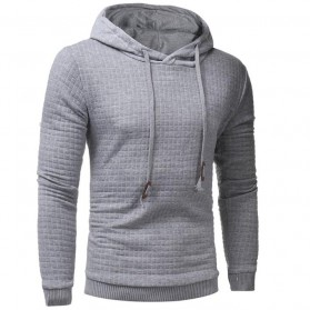 Jaket Hoodie Sweatshirt Long Sleeve Size XL - Light Gray - 2