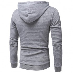 Jaket Hoodie Sweatshirt Long Sleeve Size XL - Light Gray - 3