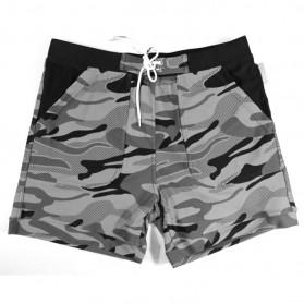 Pakaian Pria Terbaru Keren - Celana Pendek Santai Pria Camouflage Size S - Army Gray