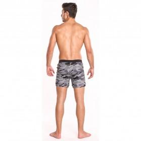 Celana Pendek Santai Pria Camouflage Size S - Army Gray - 4