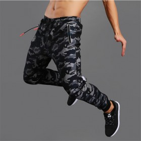 LIEXING Celana Jogger Pria Model Tactical Army Size M - L10834 - Black
