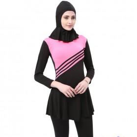 Baju Renang Kerudung Wanita Diving Style Swimsuit Size XL - MA2204 - Pink
