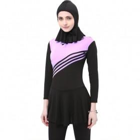 Baju Renang Kerudung Wanita Diving Style Swimsuit Size XXL - MA2204 - Pink - 2