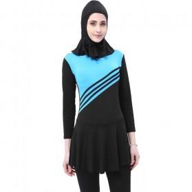 Baju Renang Kerudung Wanita Diving Style Swimsuit Size XXL - MA2204 - Pink - 3