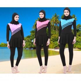 Baju Renang Kerudung Wanita Diving Style Swimsuit Size XXL - MA2204 - Pink - 4