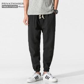Trend Fashion Pria Terbaru - Privathinker Celana Jogger Casual Pria - Size L - Black
