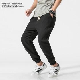 Privathinker Celana Jogger Casual Pria - Size XL - Black - 2