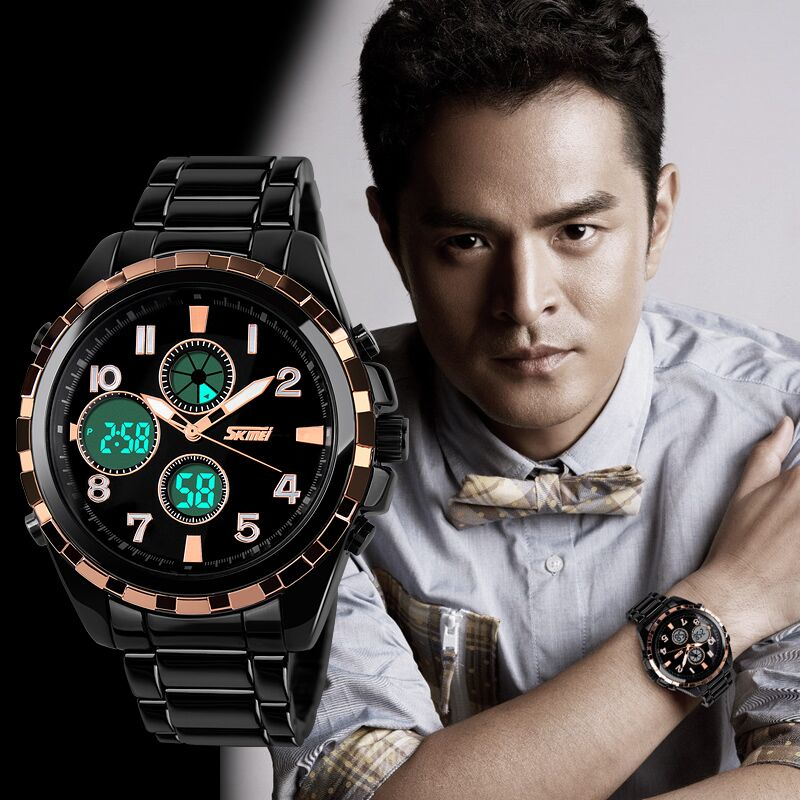 Jam tangan SKMEI 1021 hadir dengan interface penunjuk waktu analog dan digital yang stylish. Dengan design modis, tangguh, dan tahan air hingga kedalaman ...