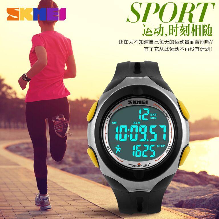 Skmei jam tangan olahraga pedometer dg s black