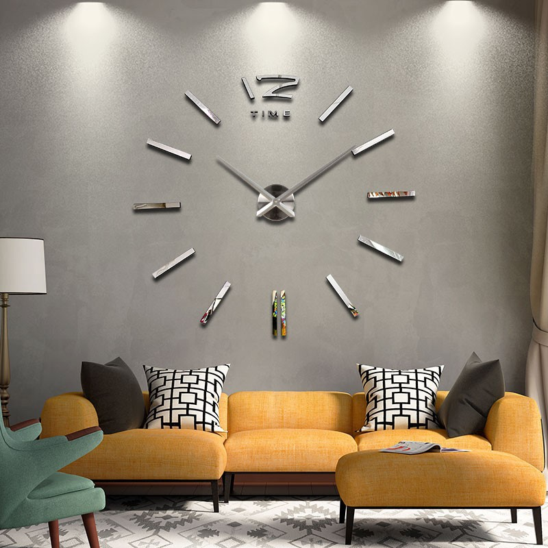 ... 3D Giant Wall Clock   Jam Dinding - WT0025 - Silver - 11 ... 602ea597c7
