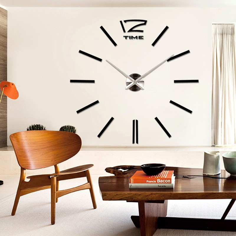 ... 3D Giant Wall Clock / Jam Dinding - WT0025 - Silver - 6 ...