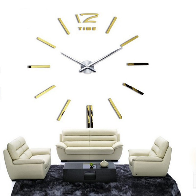... 3D Giant Wall Clock / Jam Dinding - WT0025 - Silver - 2 ...