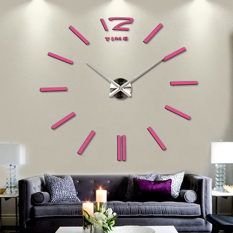 ... 3D Giant Wall Clock / Jam Dinding - WT0025 - Silver - 5 ...