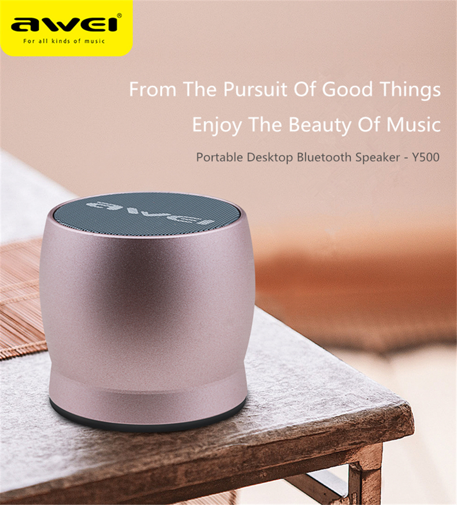 Awei Mini Bluetooth Speaker Y500 Gray Kulitas Overview Of