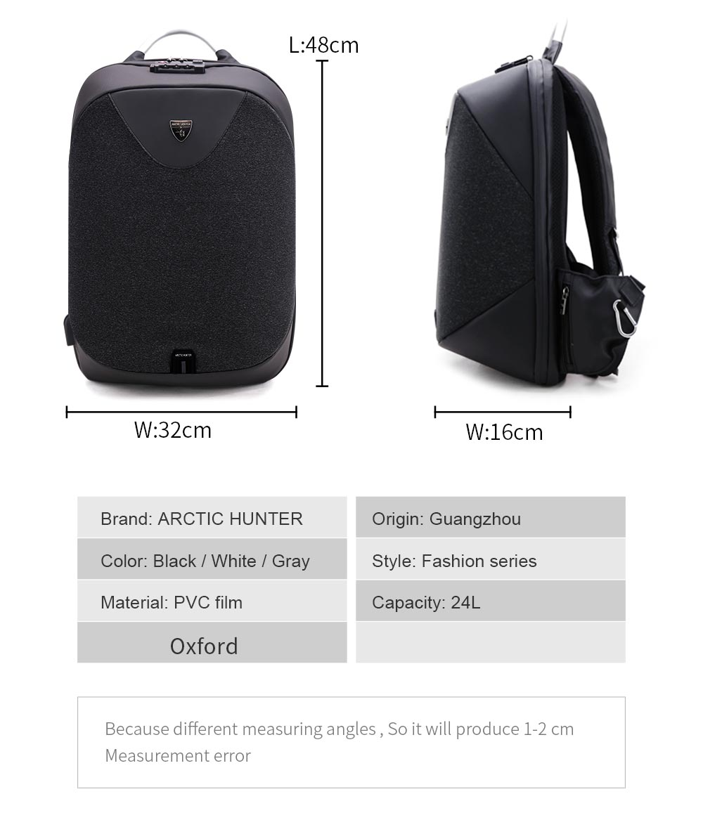 Arctic Hunter Tas Ransel Usb Charger Port Dengan Digital Storage Fashion Wanita Dapat 4pcs Package Contents