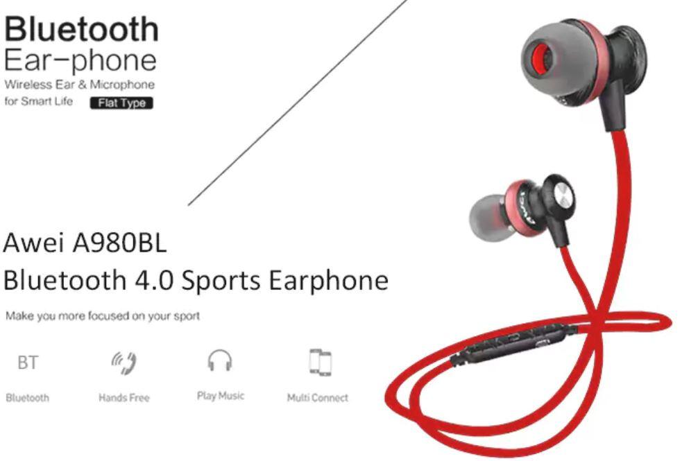 Awei A980BL adalah salah satu dari berbagai earphone in-ear Awei yang  ditujukan untuk penggemar olahraga dan luar ruangan. Reduksi kebisingan CVC  6.0 cerdas ... bb7271bb2a