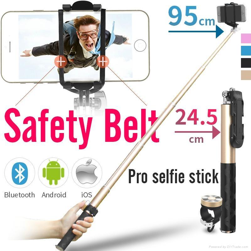 noosy pro selfie stick with bluetooth remote shutter br0802 black jakar. Black Bedroom Furniture Sets. Home Design Ideas