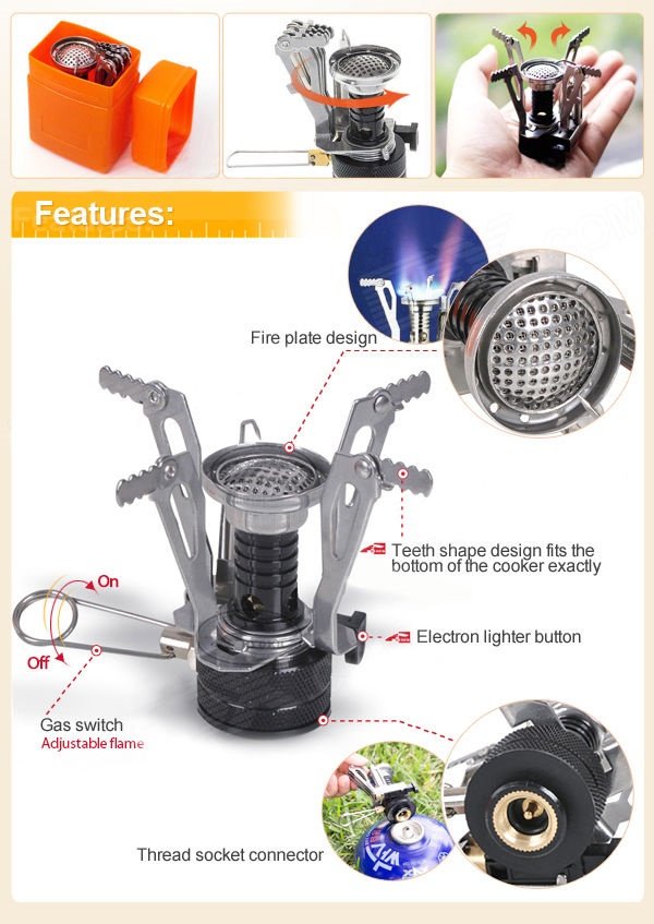 Overview of Backpacking Canister Camping Stove / Kompor Gas Portable - Y630