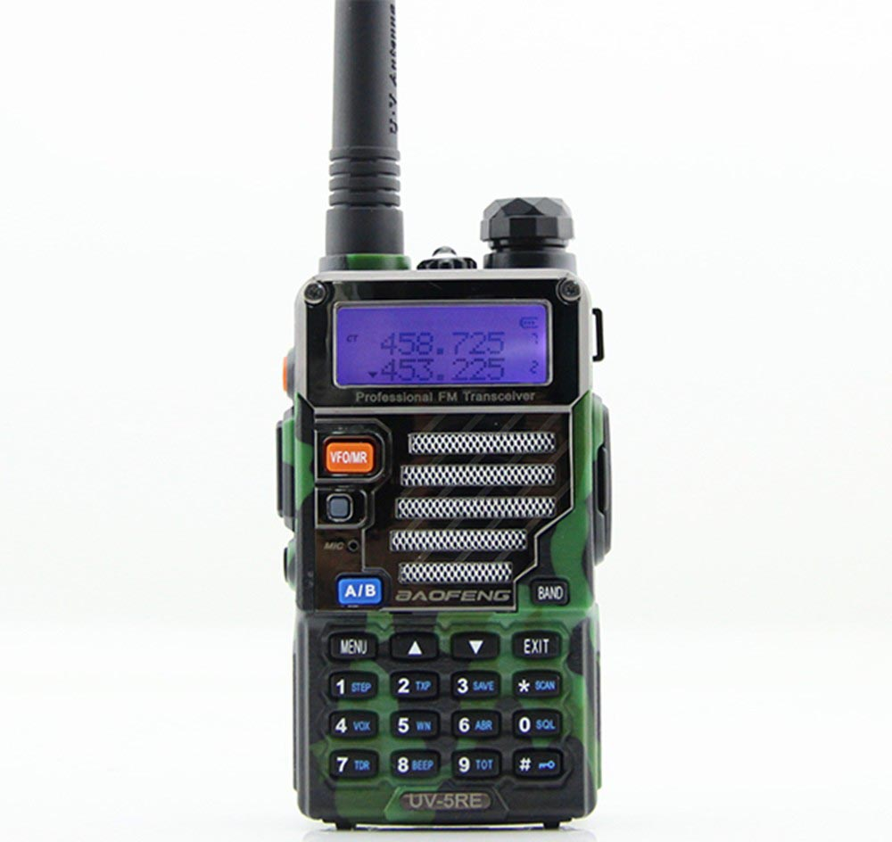 taffware walkie talkie dual band 5w 128ch uhf vhf bf uv 5re camouflage. Black Bedroom Furniture Sets. Home Design Ideas