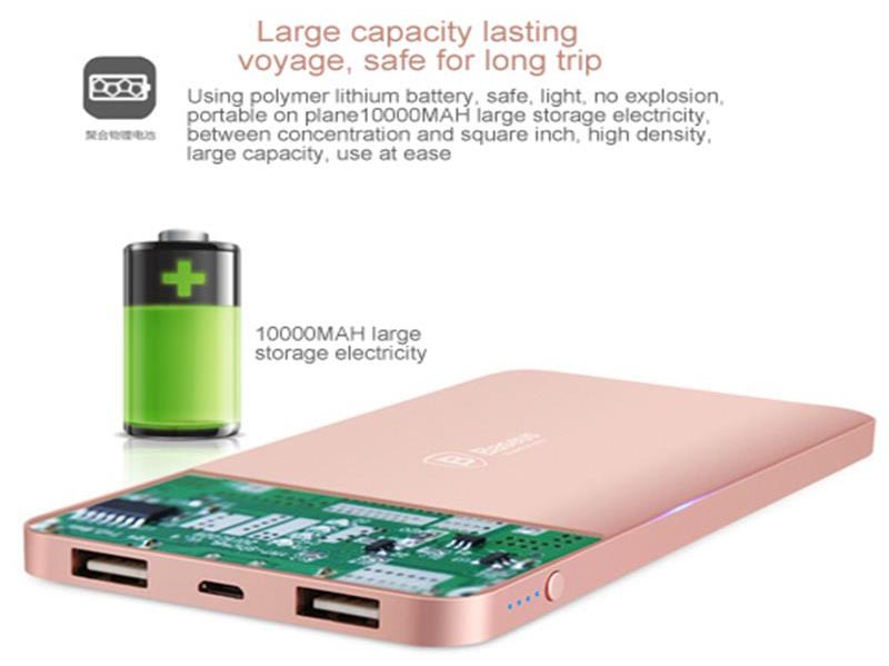 Baseus Power Bank Star Series Dual Output Charging 10000mAh