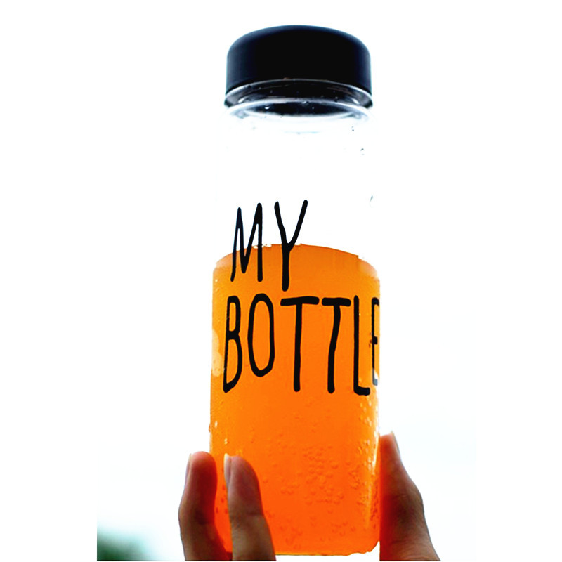 ... Botol Minum Plastik Bening Juice Lemon My Bottle 500ml - Black - 3 ...