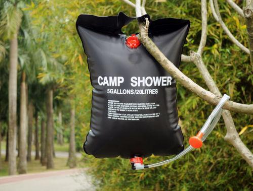 Camp Shower Bag 20 Litres Tas Air Black