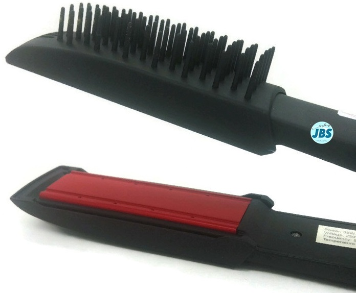 Ceramic Hair Styler Straight Stick With Comb Catok