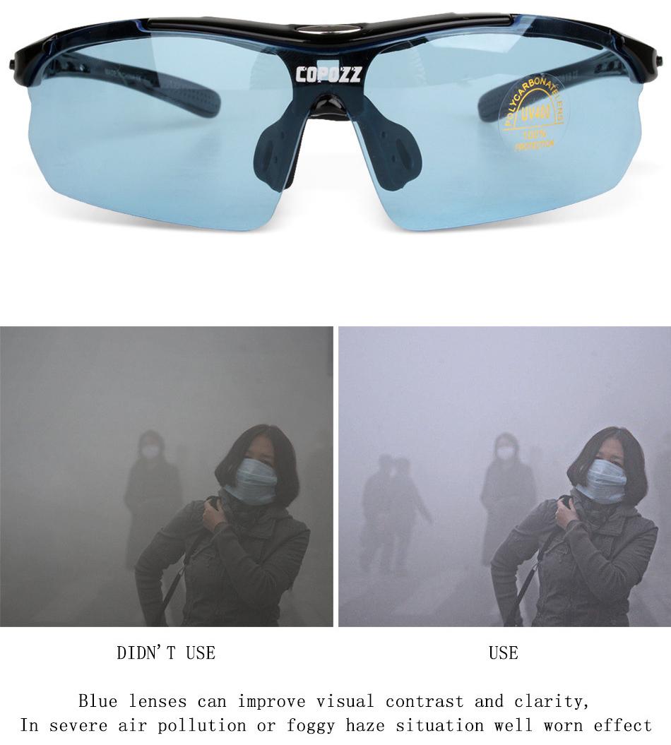 Copozz Kacamata Sepeda dengan 5 Lensa Myopia - Black ... e3d2890293