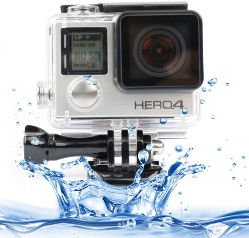 Dazzne Waterproof Flat Button Housing Case For GoPro Hero