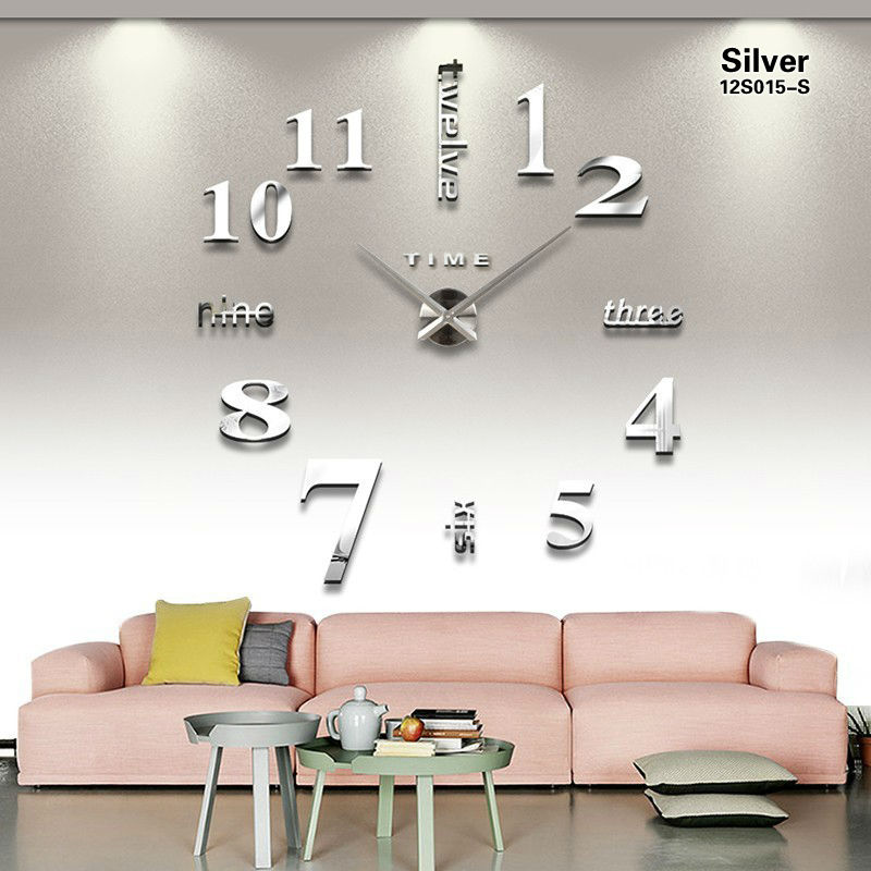 ... Jam Dinding DIY 80-130cm Diameter - ELET00659 - Black - 5 ... 78827b7897