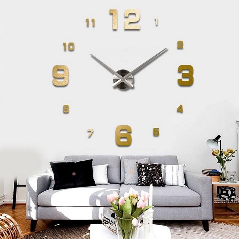 Diy giant wall clock 80 130cm diameter elet00660 jam - Relojes grandes de pared vintage ...