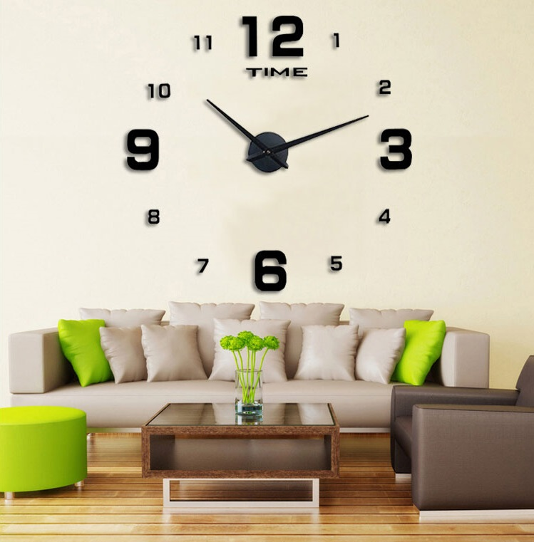 Overview of DIY Giant Wall Clock 80-130cm Diameter   Jam Dinding - ELET00660 993df9f4a1