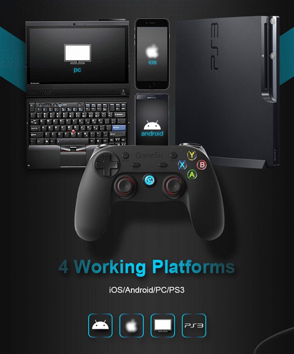 Gamesir G3s Gamepad Bluetooth Ps3 Ios Android Black Hp Dan Ini Dapat Digunakan Untuk Playstation 3 Pc