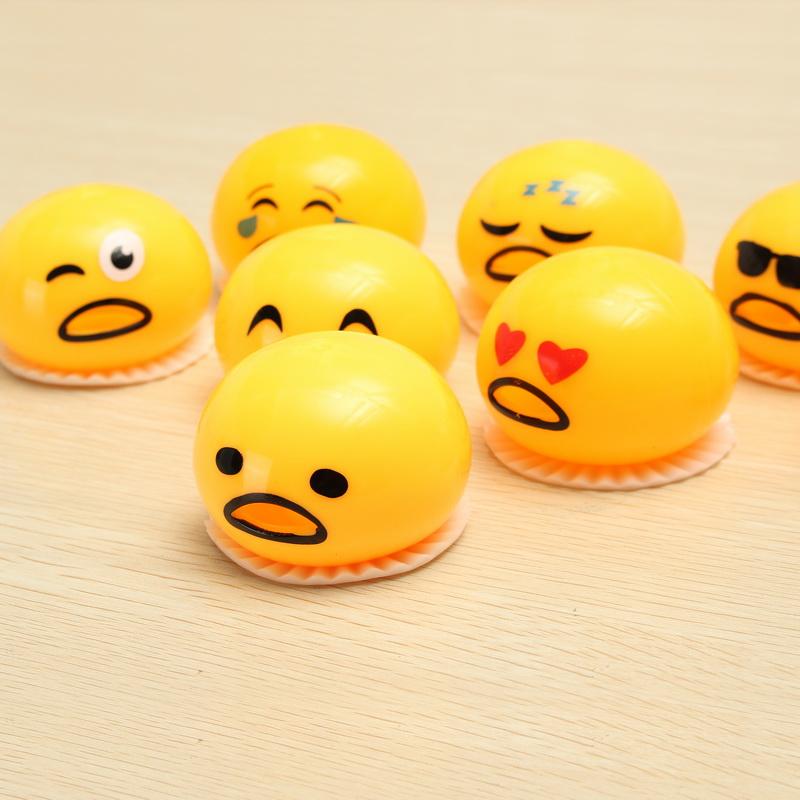 Squishy Ball Slime : Gudetama Muntah Slime Squishy Anti Stress Ball - Orange - JakartaNotebook.com