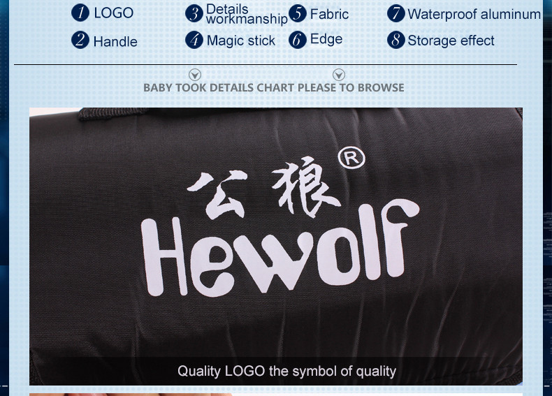 hewolf tikar piknik lipat waterproof coffee
