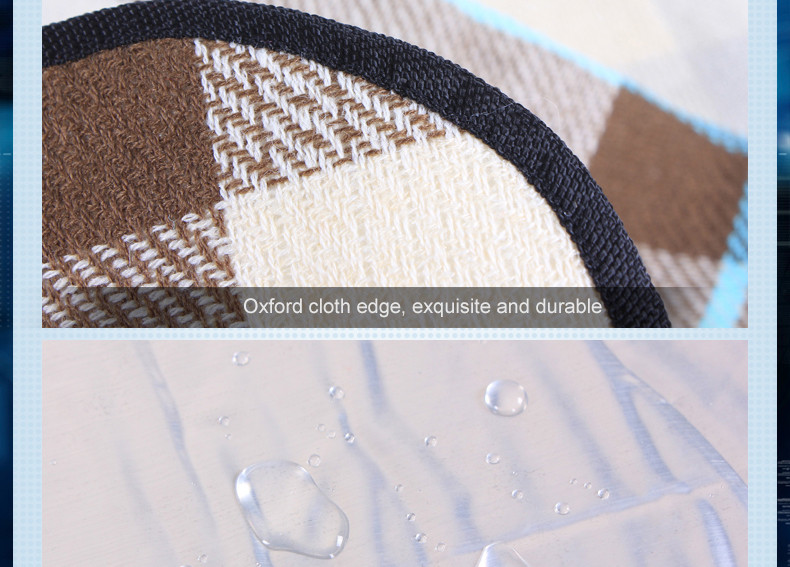 Tikar piknik ini juga tahan air dan embun, sehingga tetap kering dan nyaman digunakan pada suhu atau kondisi apapun. Bagian bawah karpet menggunakan bahan ...