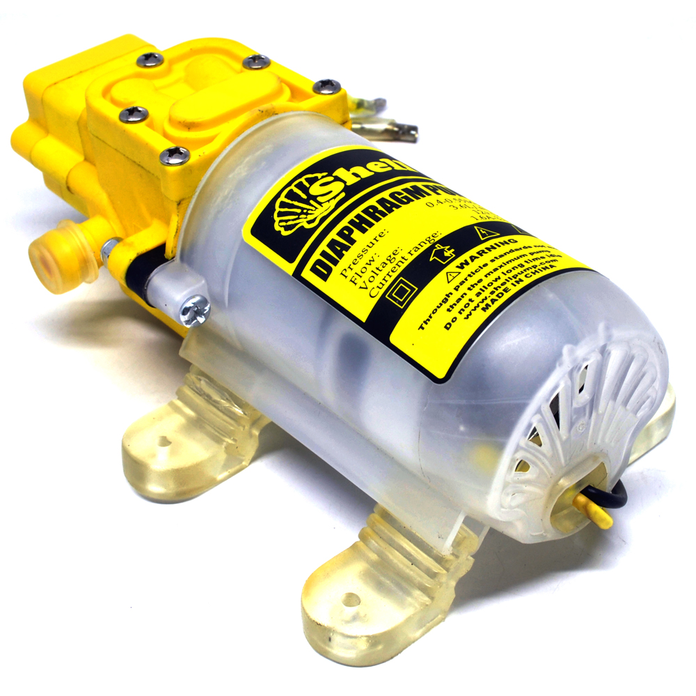 Shell Pompa Air High Pressure Car Washing Water Diaphragm Pump Transparent