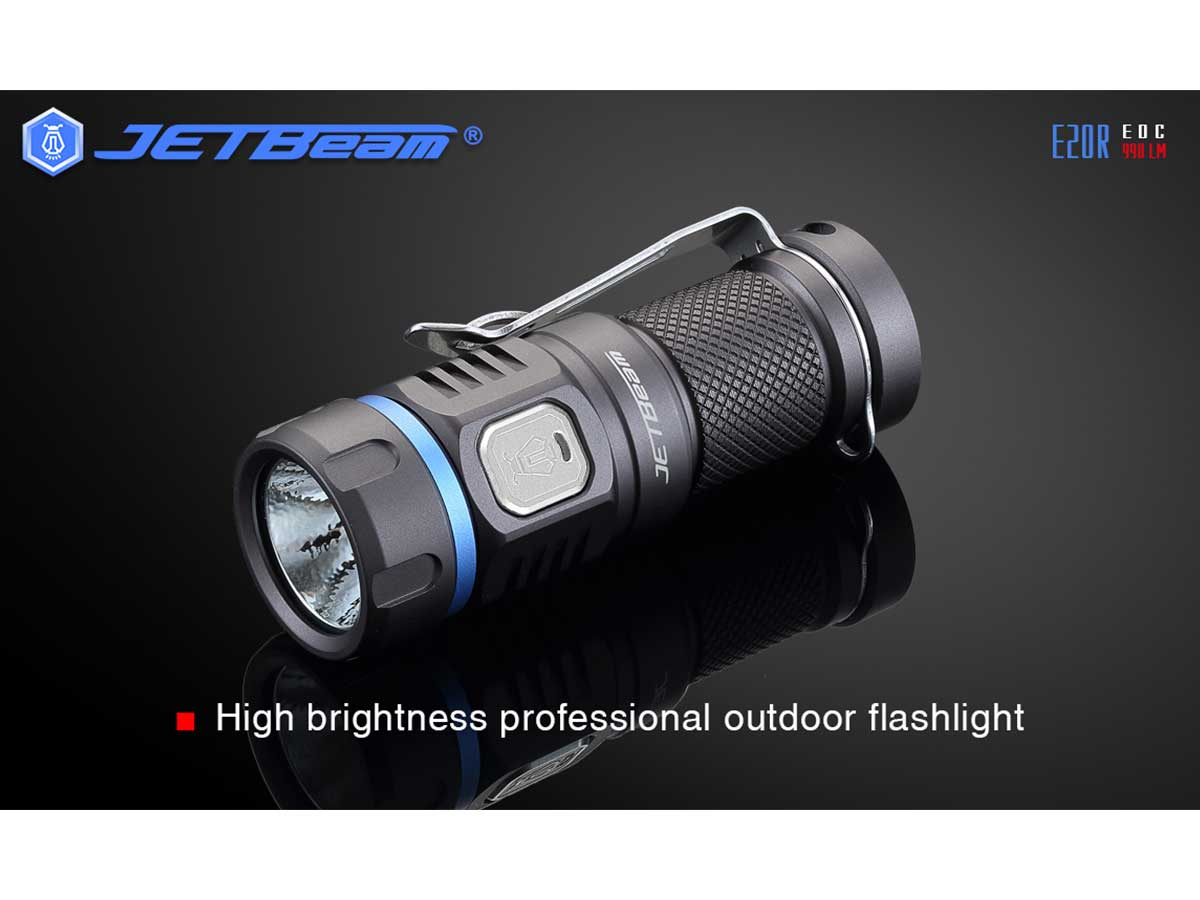JETBeam E20R Senter LED SST40 N4 BC 990 Lumens 1