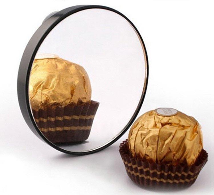 Cermin Make Up Kaca Pembesar Close Up 10x Black