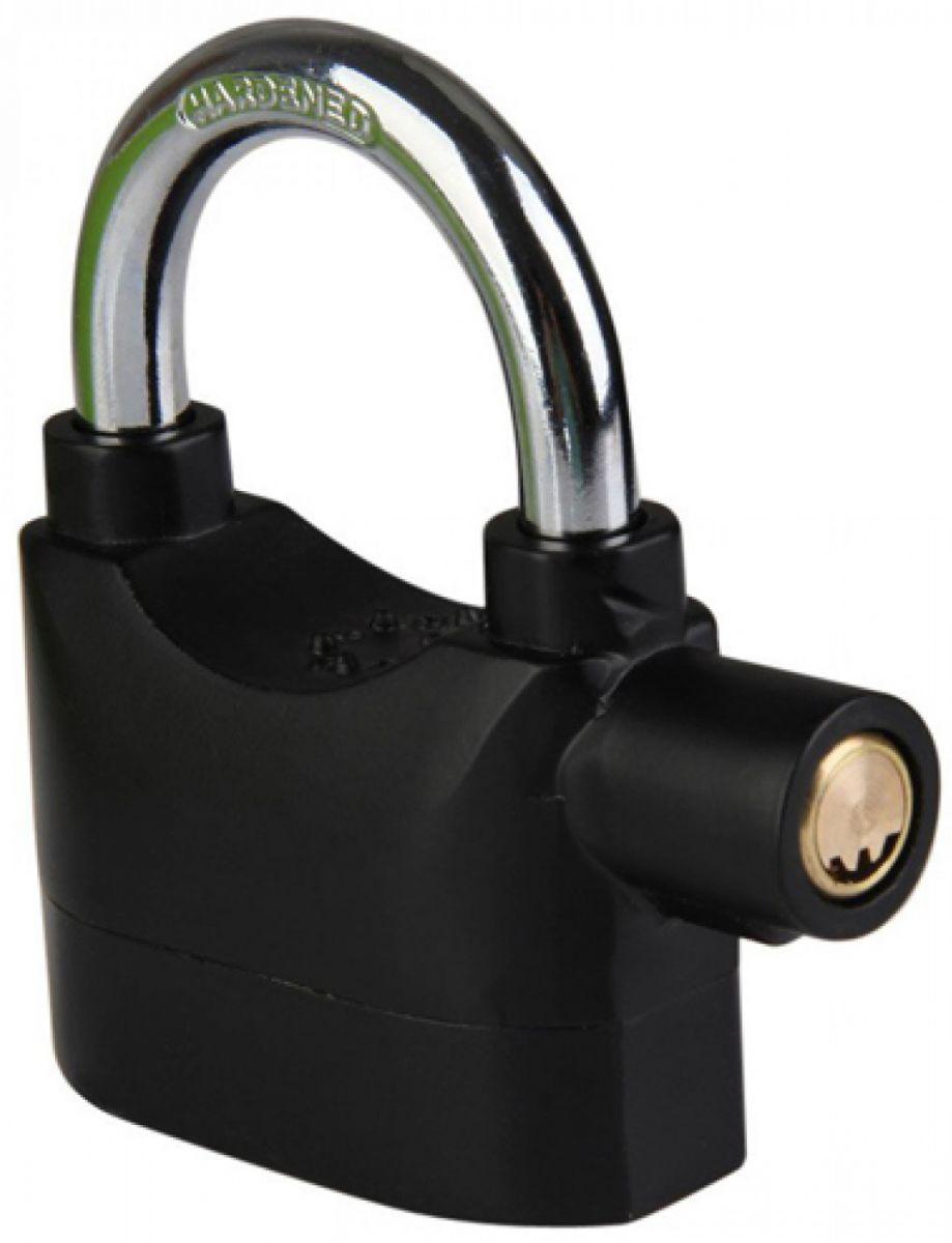 Gembok Alarm Motor Suara Anti Maling / Lock Siren - Black