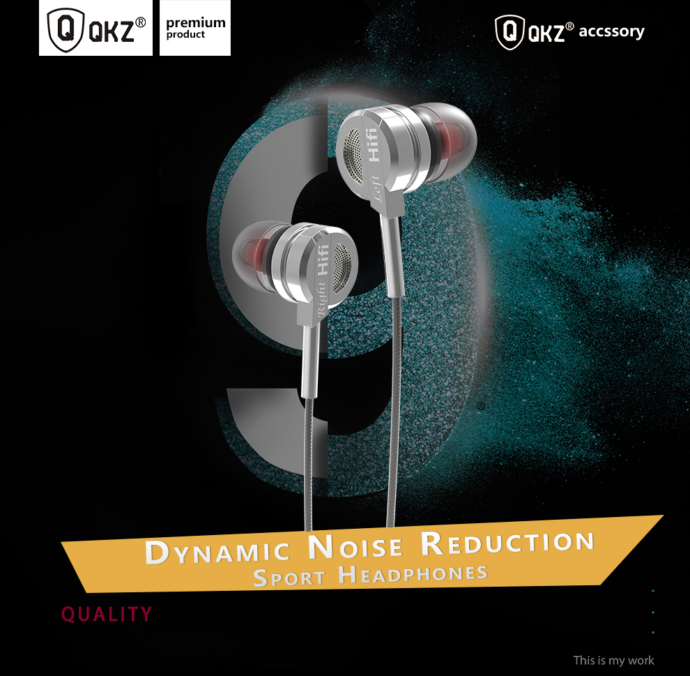 qkz bass metal earphone with mic qkz dm9 silver. Black Bedroom Furniture Sets. Home Design Ideas