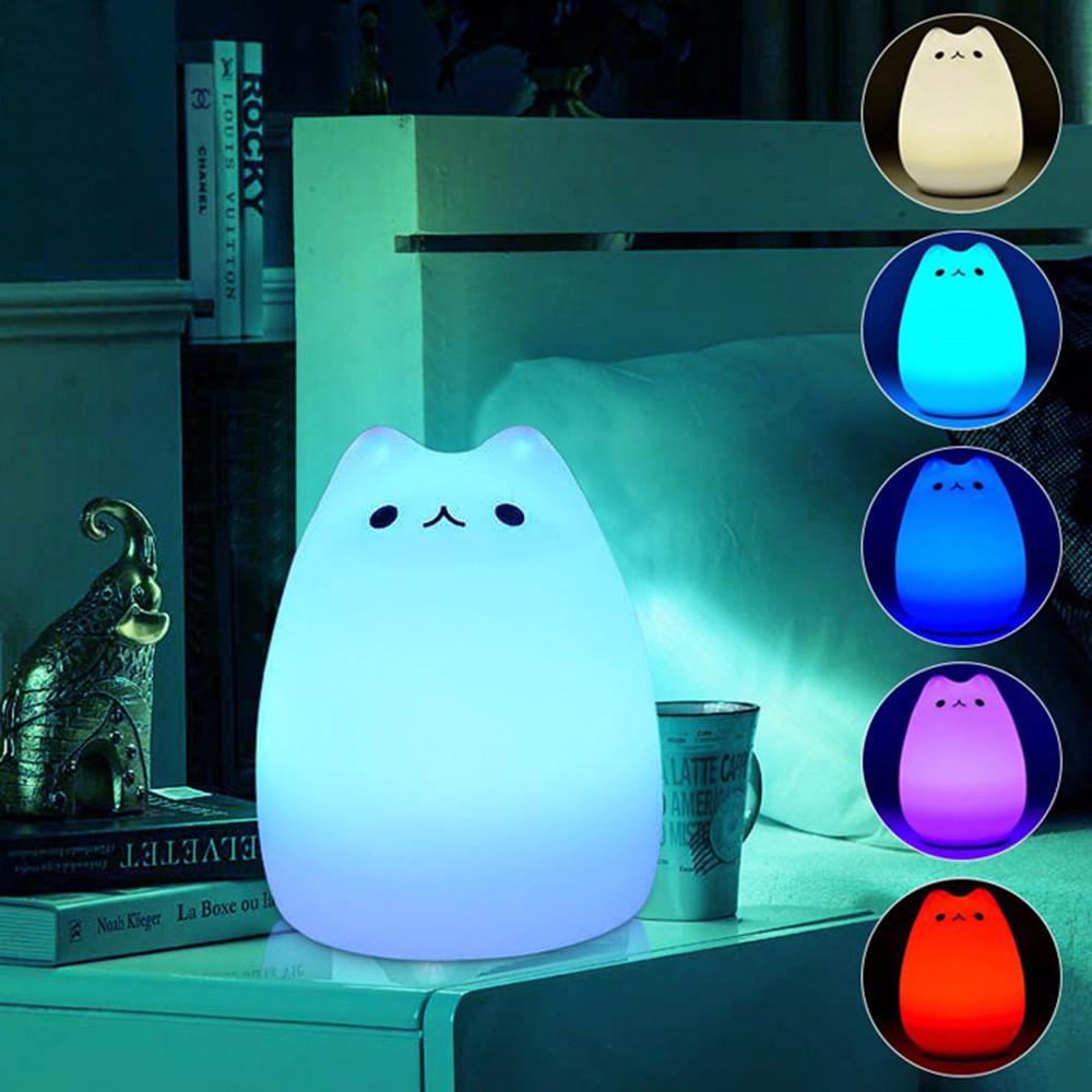 Lampu 7 Warna Model Kucing Lucu Ljc 101 White