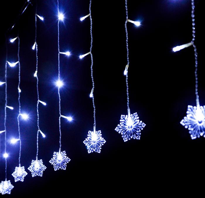 Lampu Hias Gantung Model Snowflakes White