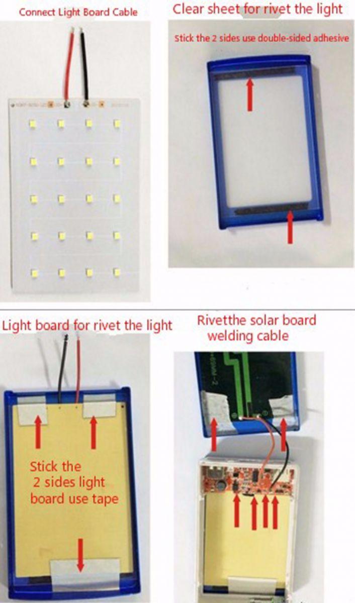 Power Bank Diy Tenaga Solar Dengan Lampu Led Blue Wiring Rumah Pada Bagian Lainnya Di Balik Panel Anda Dapat Memasangkan Sehingga Gunakan Untuk Menerangi Saat Emergency